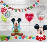 Luftballon Paket Geburtstag Mickey Mouse