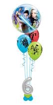 """Helium Bubble Bouquet mit Zahl """"Star Wars - Der letzte Jedi"""""""