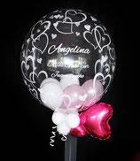 Herz-Bubble-Ballon für  Kommunion Firmung Jugendweihe