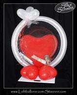 Herz im Bubble -Luftballon Geld Geschenk