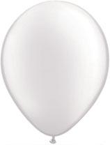 Pearl White - Latexballon rund