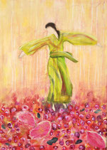 Die auf Rosen tanzt