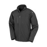 Recycled 3-Layer Printable Softshell Jacket - Black