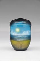 Sand mit Pfotenabdrücke, airbrush, Kupfer
