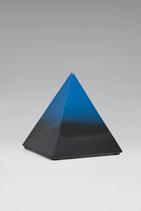 Blau, schwarz, Pyramide, Keramik