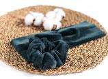 Stirnband aus BIO-Baumwoll-Nickistoff-Tannengrün