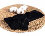 Stirnband aus BIO-Baumwoll-Nickistoff-Schwarz