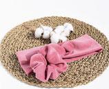 Stirnband aus BIO-Baumwoll-Nickistoff-Altrosa