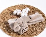 Stirnband aus BIO-Baumwoll-Nickistoff-Sand-beige