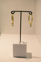 Earring with stone - gold plated #5