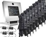 Kabelloses EMS-System von AQ8 für vier User mit 8 EMS-Anzügen und Basis-Station. Ausbaubar auf bis zu 8 User.