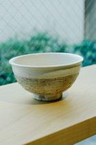 信楽焼 渕荒横彫 めし碗