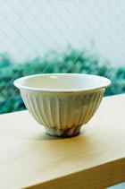 信楽焼 鉄散線彫 めし碗