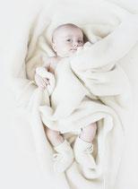 Babyschuhe aus Merinowolle
