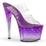 High Heels Stardust-702T von Pleaser purple