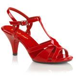 Sandalen Belle-322 von Pleaser rot