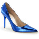 Pumps Classique-20 von Pleaser blau metallic