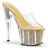 High Heels Adore 701SRS  von Pleaser gold/clear