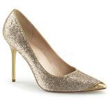 Pleaser Stiletto Heels Classique-20 gold glittery