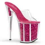 High Heels Flamingo-801G von Pleaser pink