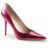 Pleaser Stiletto Heels Classique-20 pink metallic