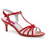 Sandalen Kitten-06 von Pleaser rot
