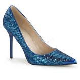 Pleaser Stiletto Heels Classique-20 navy glitter