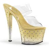 High Heels Stardust-702T von Pleaser gold