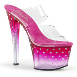 High Heels Stardust-702T von Pleaser pink
