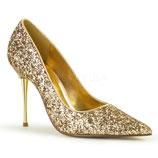 Pleaser Stiletto Heels Appeal-20G gold