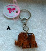 Massiver Schlüsselanhänger Elefant - Talismann - Glücksbringer