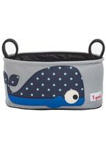 3 Sprouts Kinderwagentasche Wal