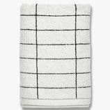 Handtuchserie Tile Stone schwarz/weiß Mette Ditmer