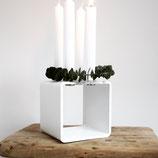 4glow cube Kerzenständer weiß