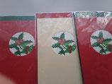 3er Set Aquarelldruck Karten Ilex