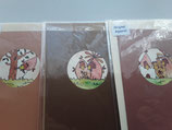 3er Set Aquarell Karten Jeje, braun
