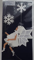 Karte Schneeflockenelfe, indigo