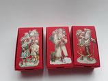 3er Set Schachteln Weihnachtsmänner rot