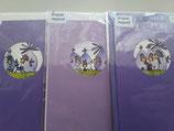 3er Set Aquarell Karten Jeje, violet