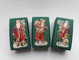 3er Set Schachtel Weihnachtsmann grün