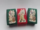 3er Set Schachteln Weihnachtsmann grün, rot grün