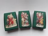 3er Set Schachteln Weihnachtsmann, grün 2