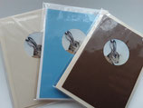 3er Set Aquarelldruck Karten Hase