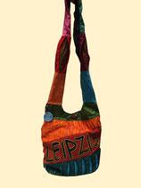 Hippie-Tasche mit Leipzig Aufschrift bunt - Original Robin Ruth