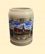 Bierkrug/ Beer Mug - 3 Motive, Steingut
