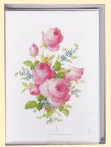 Meißner Blumenmalerei - Beilegekärtchen