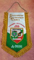 Schiedsrichter Wimpel Länderspiel Türkei - Bulgarien 1992