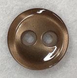 Knoop glanzend met een randje hazel bruin