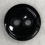 Knoop glanzend met een randje zwart