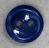 Knoop glanzend met een randje kobalt blauw